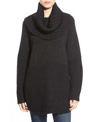 MICHAEL Michael Kors | Black Removable Cowl Metallic Knit Poncho | Lyst