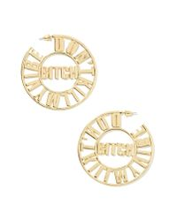 Nasty Gal - Metallic Don'T Kill My Vibe Hoop Earrings - Lyst