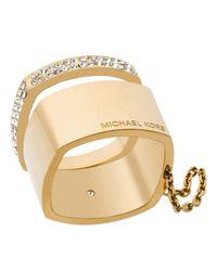Michael Kors - Metallic Etched Logo Ring - Lyst