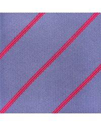 Thomas Pink Purple Dursley Stripe Woven Silk Tie for men