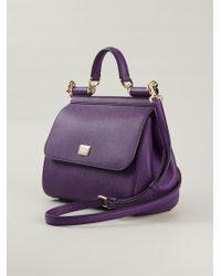Lyst - Dolce   Gabbana Medium  Sicily  Tote in Purple 6b01f9f265