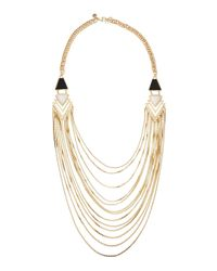 Lydell NYC - Metallic Tiered Side-station Necklace - Lyst