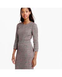 J.Crew | Gray Neon Tweed Long-sleeve Dress | Lyst