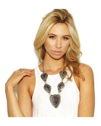 Natalie B. Jewelry - Blue Natalie B. The Lady Lazuli Necklace In Silver - Lyst