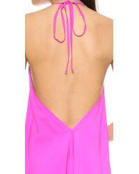 Ramy Brook Pink Nadia Scarf Dress - Lagoon