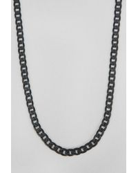 Urban Outfitters - Black Link Chain Necklace for Men - Lyst