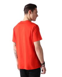 DIESEL | Red T-napol for Men | Lyst