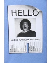 Urban Outfitters Blue Hello Lionel Richie Tee for men