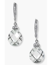 Nadri - Metallic Faceted Crystal Drop Earrings - Clear - Lyst