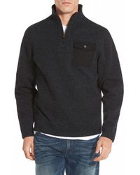 Timberland | Black 'branch River' Quarter Zip Fleece Sweater for Men | Lyst
