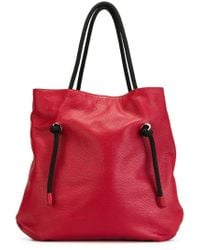 MM6 by Maison Martin Margiela | Red Rope Handle Shopper Tote | Lyst