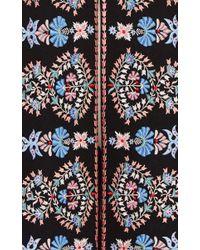 Vilshenko - Black Embroidered Wool Rosie Cape - Lyst