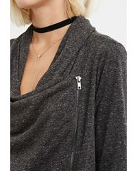 Forever 21 | Gray Marled Asymmetric-front Sweater You've Been Added To The Waitlist | Lyst