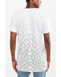 Adidas White Sport Luxe Long Reptile Tee for men