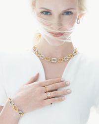 Roberto Coin | Metallic Pois Moi 4-diamond Square Link Bracelet | Lyst