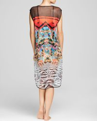 Clover Canyon Red Toucan Mesh Swim Cover Up Dress