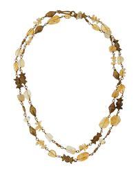 Ashley Pittman - Metallic Citrine & Bronze Station Necklace - Lyst