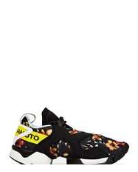 Y-3 | Black Unisex Graphic Kohna Sneakers for Men | Lyst
