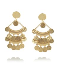 Kenneth Jay Lane | Metallic Hammered Gold-Plated Clip Earrings | Lyst