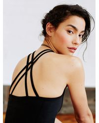 Free People | Black Strappy Top | Lyst
