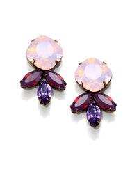 DANNIJO - Metallic Luna Crystal Earrings - Lyst