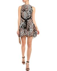 Proenza Schouler Black Printed Silk-crepe Mini Dress