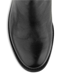 Kenneth Cole - Black Merit Leather Riding Boots - Lyst