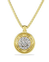 David Yurman | Yellow Labyrinth Disc Pendant With Diamonds | Lyst