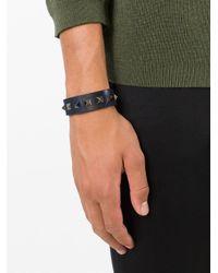 Valentino - Blue 'Rockstud' Bracelet for Men - Lyst