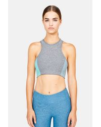 Outdoor Voices - Gray Athena Crop Bra - Lyst