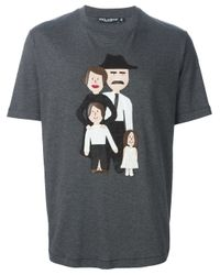 Dolce & Gabbana Gray Family Patch T-shirt for men