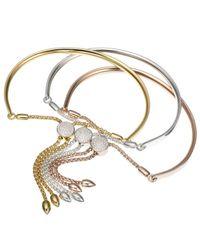 Monica Vinader Metallic Fiji Diamond Toggle Bracelet
