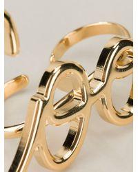 Lanvin Metallic 'cool' Ring