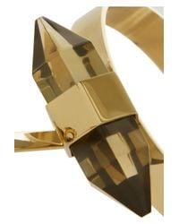 By Malene Birger - Metallic Ottava Goldplated Resin Finger Bracelet - Lyst