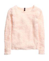 H&M Pink Chenille Jumper
