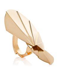 Yumeko Yamada | Metallic Large Fan Ring | Lyst