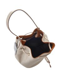 Max Mara Natural Leather Bucket Bag