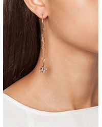 Eddie Borgo | Metallic Pavé Bud Drop Earrings | Lyst