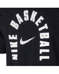 Nike Black Dry Branded Arch Basketball T-shirt for men