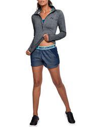 Under Armour - Black Threadborne Train Twist Print 1⁄2 Zip Long Sleeve Shirt - Lyst