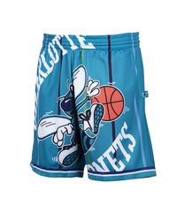 Mitchell & Ness Blue Charlotte Hornets Big Face Shorts for men
