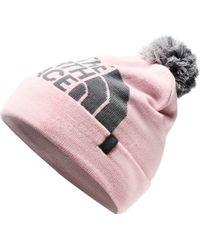The North Face Pink Youth Ski Tuke Beanie