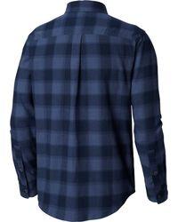 Columbia Blue Oulder Ridge Flannel Long Sleeve Shirt for men