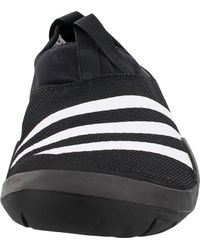 Adidas Black Outdoor Climacool Jawpaw Slip-on Water Shoes for men