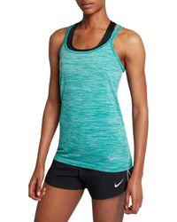 Nike Green Dri-fit Knit Running Tank Top