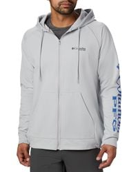 Columbia Gray Terminal Tackle Fleece Fz Hoodie for men