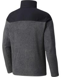 Columbia Gray Steens Mountain Novelty Fleece Jacket for men