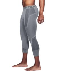 Under Armour Gray Threadborne Seamless 3⁄4 Length Leggings for men