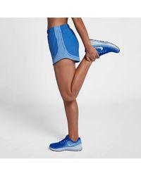 Nike Blue 3&s;&s; Heatherized Tempo Running Shorts