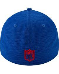 KTZ Blue New York Giants Tonal Mold 39thirty Stretch Fit Hat for men